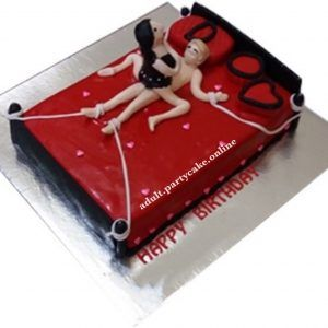 Image of a Woman on Top Cake